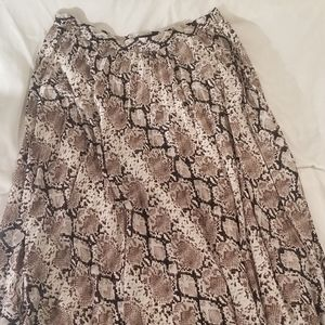 Banana Republic snake print midi skirt